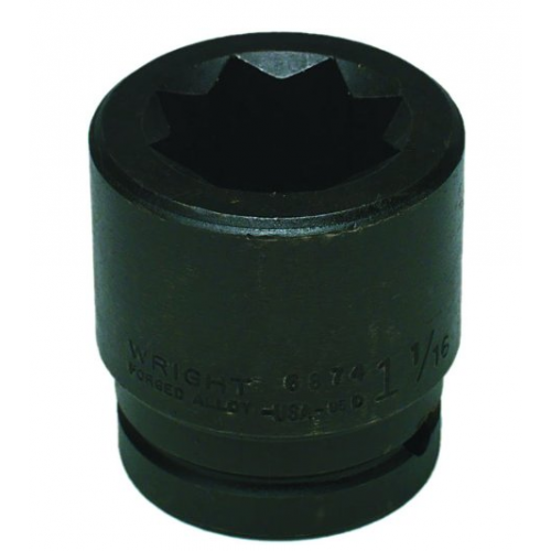 Wright Tool #6880 8-Point Double Square Impact Railroad Socket