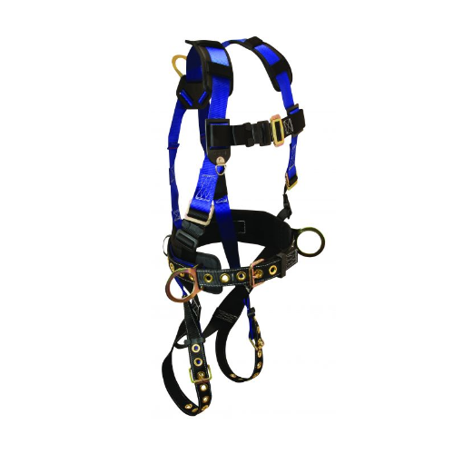 FallTech 7073LX Contractor FBH 3D Construction Harness, Belted Large/XL TB Legs MB Chest