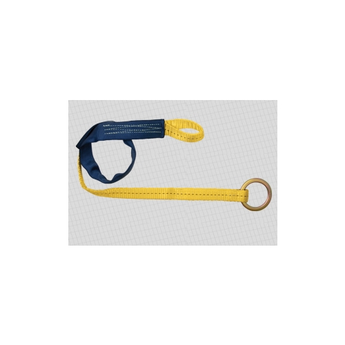 Fall Tech Web Embed Anchor with Jacketed Loop and O-ring.