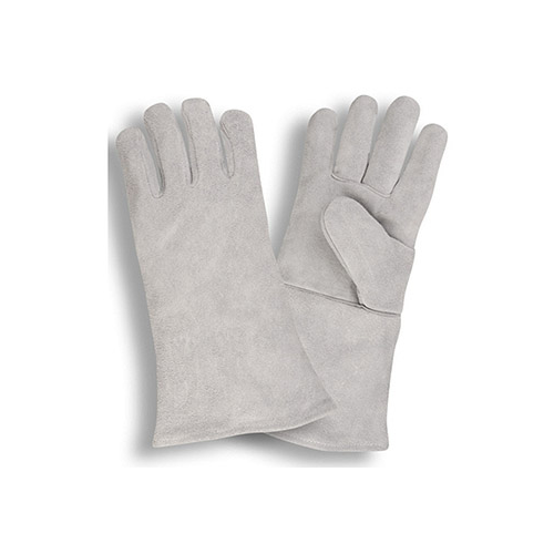 Shoulder Leather Welders Glove, Wing Thumb, Fully Welted Seams, Full Sock Lining, Gray Color - Dozen
