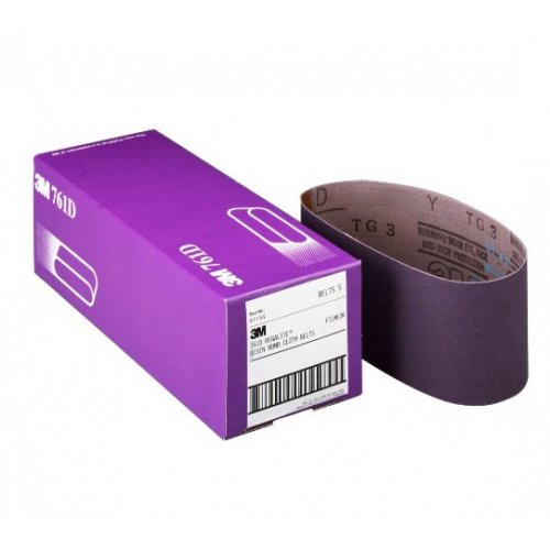 """3"""" x 24"""" P120 Grit Purple Cloth Sanding Belts (761D)"""