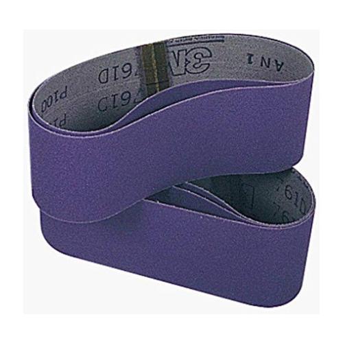 """4"""" x 24"""" P120 Grit Purple Cloth Sanding Belts (761D)"""