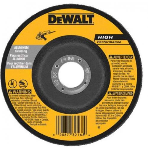 DEWALT DW8485 6-Inch by 1/8-Inch High Performance Pipeline Grinding Wheel, 7/8-Inch Arbor