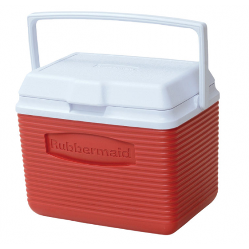 Rubbermaid 2A11-04 Modrd Beverage Cooler, 10 Qt, Red