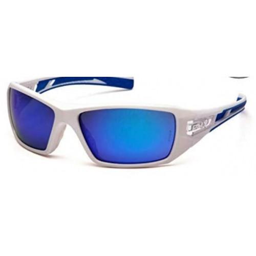 Pyramex - Velar SWBL10465D  Safety Glasses White & Blue Frame Ice Blue Mirror Lens