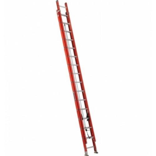 LOUISVILLE LADDER 32-FOOT FIBERGLASS EXTENSION LADDER, TYPE IA, 300-POUND LOAD CAPACITY, FE3232