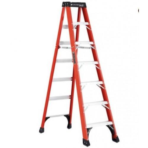 Louisville Ladder FS1408HD 8 ft. Fiberglass Step Ladder, Type IAA, 375 lb Load Capacity