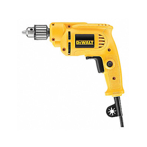 """Dewalt 3/8"""" Electric Drill, 7.0 Amps, Pistol Grip Handle Style, 0 to 2800 No Load RPM, 120VAC"""