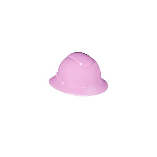 3M™ Full Brim Hard Hat H-813R, Pink, 4-Point Ratchet Suspension