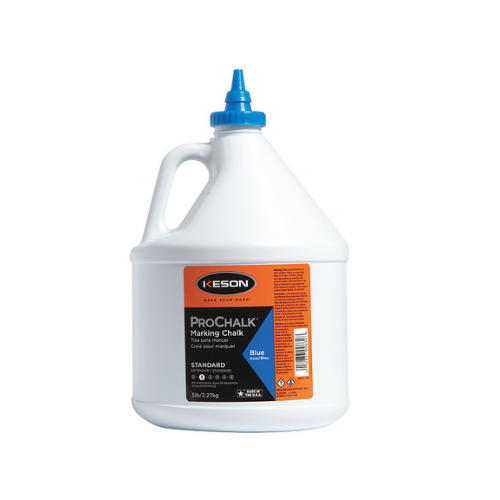 Kesson Marking Chalk Refill, Blue, 5 Lb