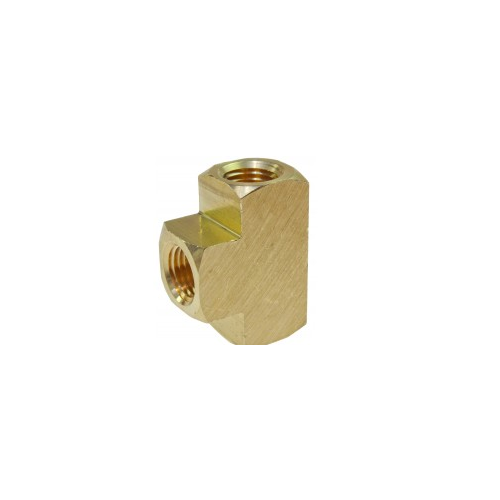 """Tee, 1/4"""" FPT Brass Pipe Fitting"""