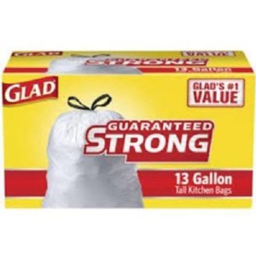 Glad 13 Gallon Bags w/Drawstrings, 45ct