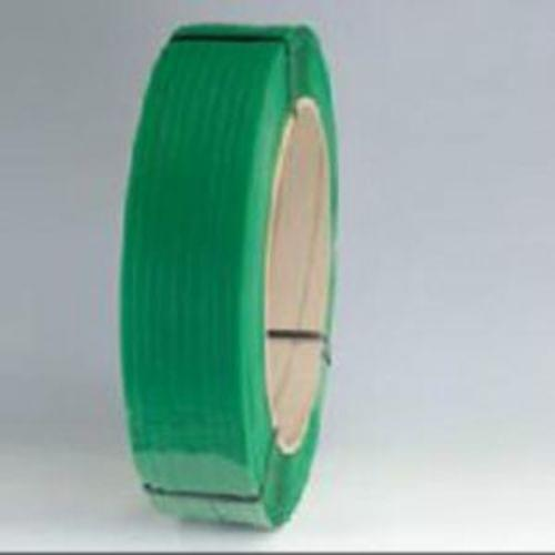 Hand Grade PET Strapping, 16x6, 6500, 1/2 .028 Green Smooth No Wax, 28/Skd