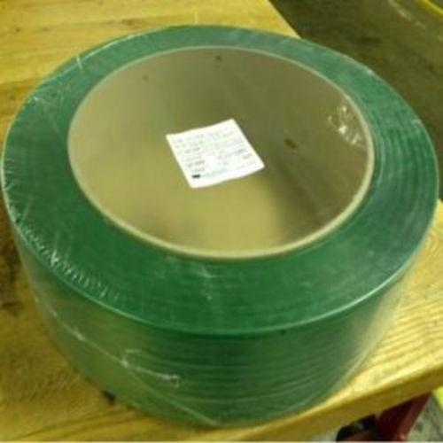 Green polyester strapping, 3/4'' X .040, 1900#, 3280 per coil, 28/Pallet