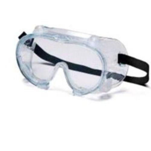 Chemical Splash Goggles w/Vent Caps, 99% UV Protection, Fits over Glasses. Exceeds ANSI Z87.1 High Impact Requirements, 12 Pair per box