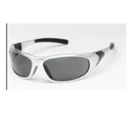 CYCLONE Safety glasses silver frame, gray anti-fog lens - rubber tips, 12 pair per box