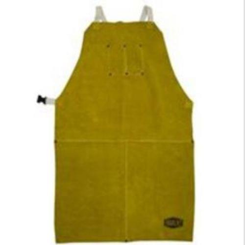 'Leather Apron, 24X42 inch  , anodized snaps and rivets, Kevlar sewn, chest pockets, cotton straps''