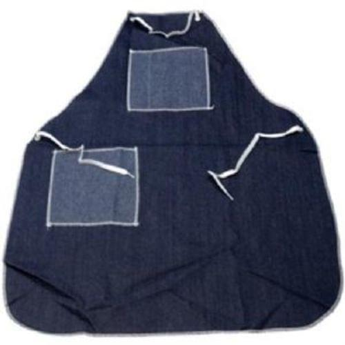 28x36 Pre-Shrunk Durable Denim Apron w/Metal Grommets, 2 Pkts, Launderable, sold per dozen