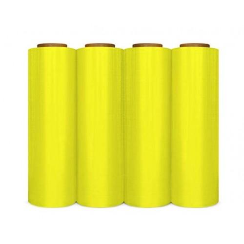 """Cast Hand Film 18"""" X 1500' Yellow-Opaque 80 Gauge"""