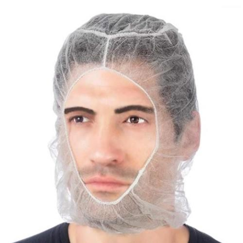 White Bouffant and Beard Cover