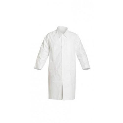 Dupont Tyvek Lab Coats No Pockets Knee Length, 5X-Large, DuPont Tyvek Frock