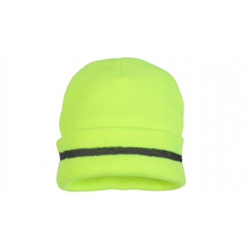 Hi-Viz Lime Winter Hat