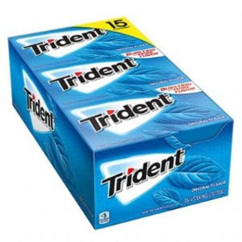 Trident Sugar Free Gum, Original,14 Pieces, 12/bx. *** new number! PLEASE USE CDB12546***
