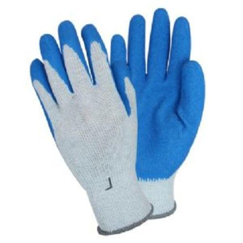 Gloves,Flat Latex Dipped String Knit,Blue/Gray