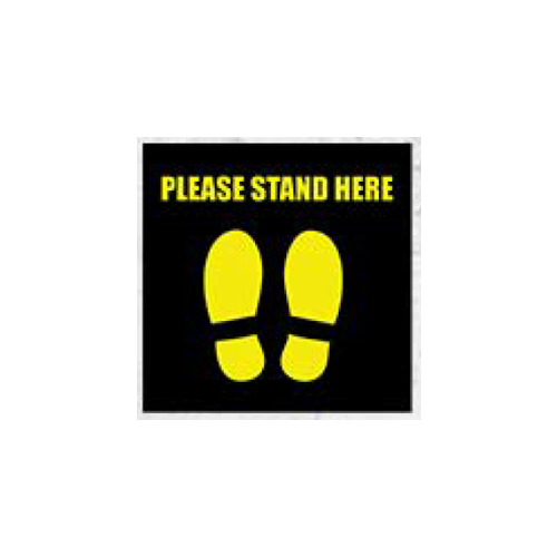 """Social Distancing MATS, Stand Here Mat, 12"""" square"""