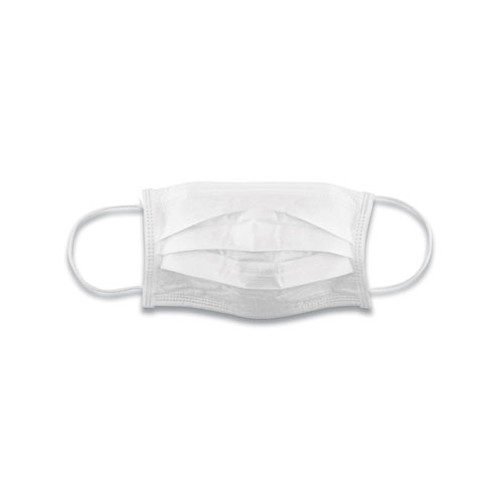PPE Cotton Face Mask with Antimicrobial Finish, White, 10/pk