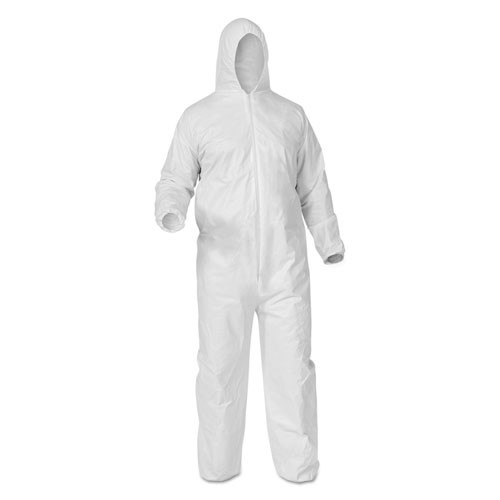Coverall,w/Hood/Boots,WH,25/cs  SIZE: 2XL