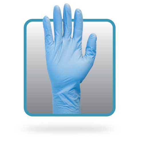 Nitrile Powder Free Disposable Gloves - Large - Industrial Grade