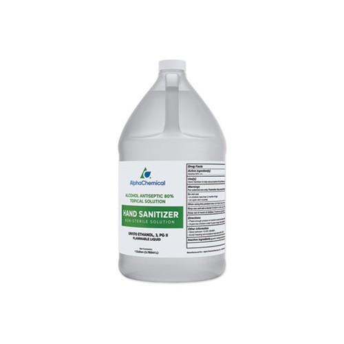 Hand Sanitizer, 1gal bottle, Unscented