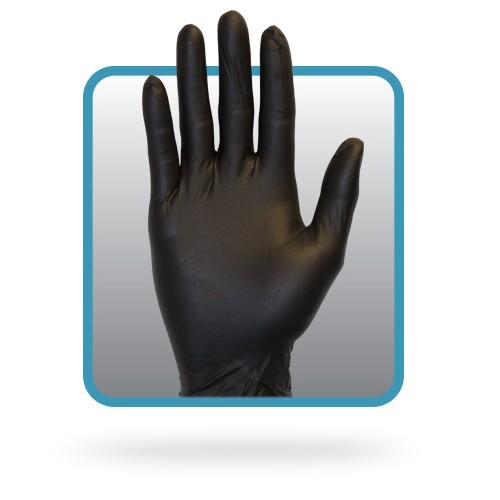 Black Nitrile Gloves, Medium