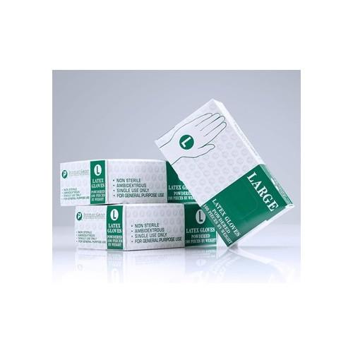 Latex Glove, Powder-Free, X-Large, 100/bx Disposable, single-use
