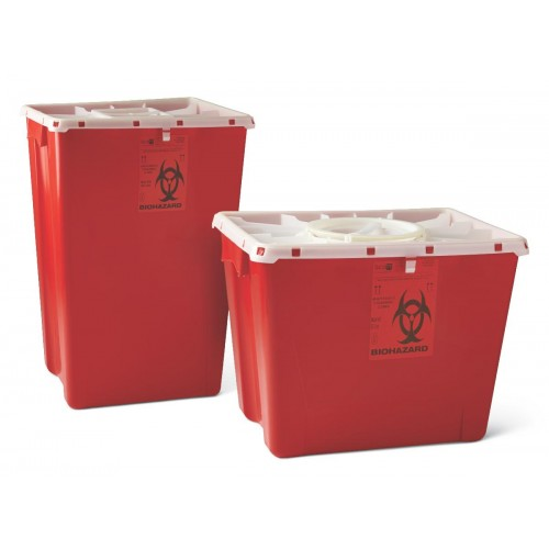Sharps Container, 8gal, Plastic, Red, LARGE PG-11