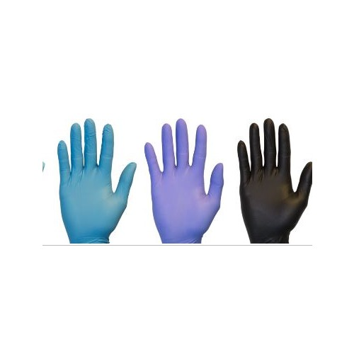 PPE*Disposable General-Purpose Nitrile Gloves, LARGE, 100/bx - BLUE