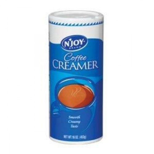 NJoy Non-dairy Powdered Creamer For Coffee, 16oz (453g) Canister