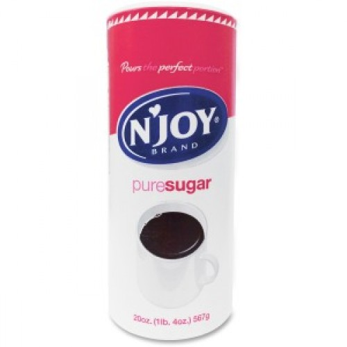 NJoy Sugar. 22oz. Sweeten your tea and coffee with 100% Cane Sugar Canisters