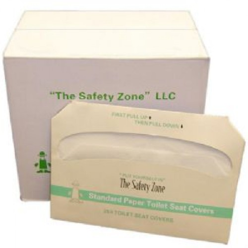 Safety Zone Half Fold Toilet Seat Covers. Case (20 Packs per Case)
