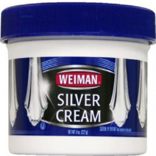 J.A. Wrights, WeImans Brand Silver Cream is a safe, mild formula that cleans and polishes all silver items. 8oz jar. 6/Case