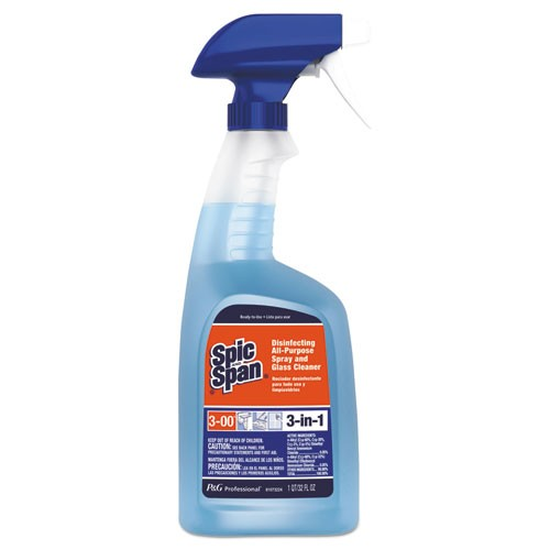 Disinfecting All-Purpose Cleaner, Fresh Scent, 32oz Spray Bottle. Sold as EA. Packed 6/carton