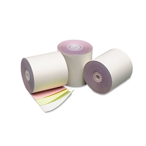 Receipt Paper Rolls, 3 ply Color: White/Canary/Pink, 50/CS, 3 x 65