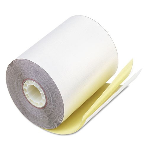 Receipt Paper Rolls, 2 ply Color: White/Yellow, 50/CS, 3 x 100