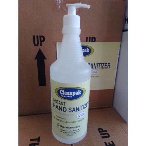 CleanPak, Hand Sanitizer, W/Aloe, Quart