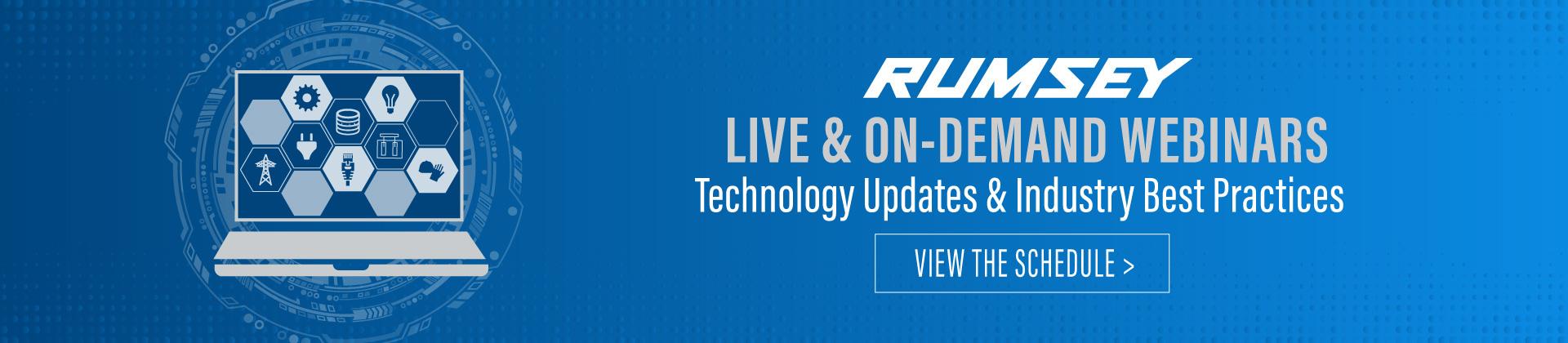 Rumsey Live & On-Demand Webinars