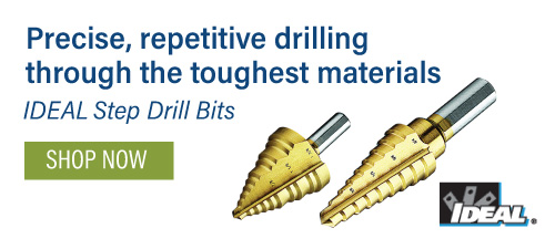 Ideal Step Drill Bits
