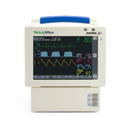 Propaq CS Monitor with ECG, Nellcor SpO2, NIBP, 2 Temp, Resp, etCo2 & Printer
