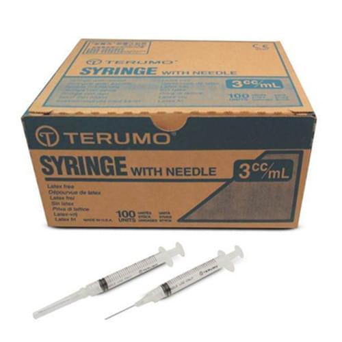 "Terumo® Syringe & Needle Combo 3cc Luer Lock 20G X 1"""