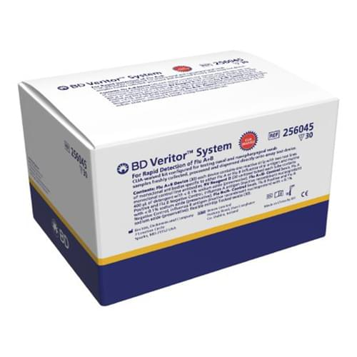 BD Veritor™ System for Rapid Detection of Flu A+B CLIA-Waived Kit - 30 Tests/Box